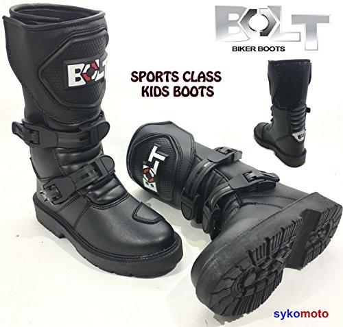 Motorrad Bolt XK15Kinder MX Off Road Stiefel Motorrad Wasserdicht Quad ATV Jungen & Mädchen Junior Rennsport-Stiefel, XX-Small