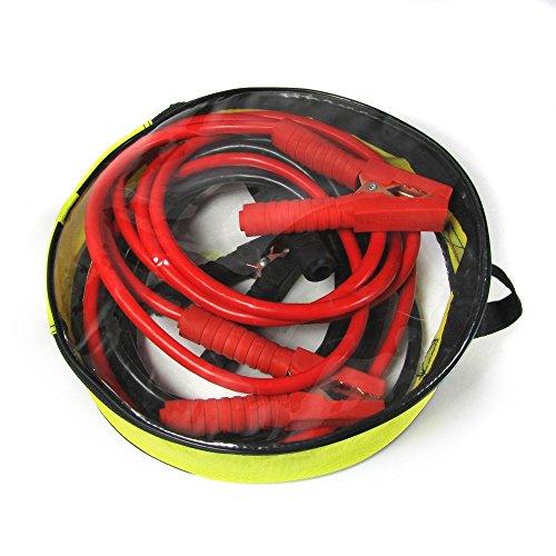 JOM 127177 Überbrückungskabel, Starthilfekabel, Starterkabel, geeignet für KFZ Batterien, Starthilfe Kabel 500 Ampere / 500 A 4 Meter lang mit Aufbewahrungstasche