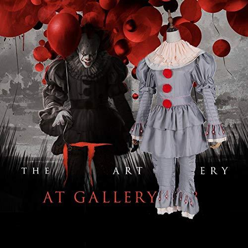 Pa Etc Kostüm - Tik Halloween Kostüm/Geburtstagsparty Cosplay Outfit - Herren Gruseliger Clown Halloween Kostüm,L