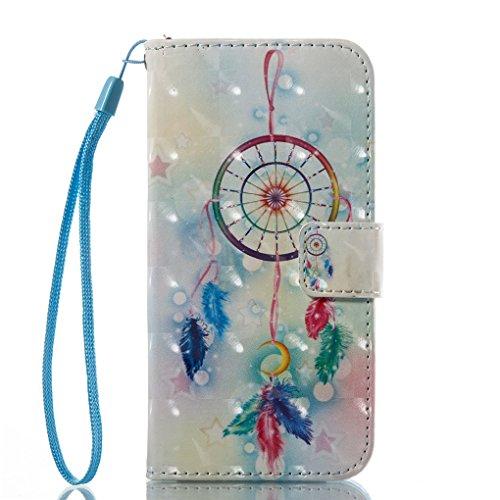 iPhone 7 / iPhone 8 Hülle, SATURCASE Schönes 3D Muster PU Lederhülle Ledertasche Magnetverschluss Flip Cover Brieftasche Case Handy Tasche Schutzhülle Handyhülle Hülle mit Standfunktion Kartenfächer u Muster-13