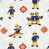 Stoffe Werning Baumwollstoff Feuerwehrmann Sam Elli & Elvis