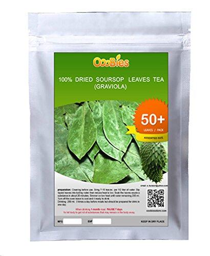 Ooobies Getrocknete Teeblätter, Sauersack (Graviola), 50Blätter