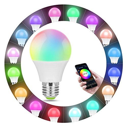 Youlala - Bombilla de luz Inteligente WiFi, Bombilla LED Que Cambia de Color con Adaptador de Base, E12 to E27, E27