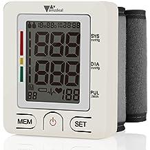 Amzdeal Tensiómetro de Muñeca Electrónico de Presión Arterial con Pantalla LCD, Monitor Digital de Presión