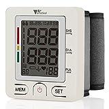 amzdeal Tensiomètre Électronique de Poignet Automatique Écran LCD, Tensiomètre numérique Mesure de Fréquence Cardiaque