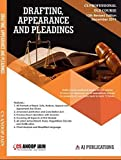 Drafting Appearances and Pleadings Old Syllabus CS Professional Latest Edition By CS Anoop Jain Applicable for December 2019 Exam