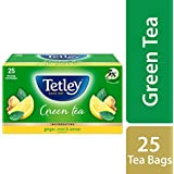 Tetley Green Tea Bags, Ginger Mint Lemon, 25 Tea Bags