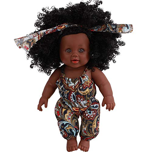 (Oliviavan-Puppe Kindersimulation Baby Afrikanische Dolls der Babypuppe Kindheit-Partner-Puppe Dress up Spiel Baby Mädchen Spielzeug Dolls Toys Lifelike)
