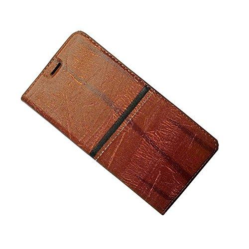 Zocardo Premium Imported Rich Boss Universal Wallet Flip Cover for Karbonn Titanium S5 Plus - Brown