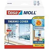 tesamoll Thermo Cover - Raamisolatiefolie, transparant - Niet klevende raamfolie - Isolatiefolie - 4 m x 1,5 m