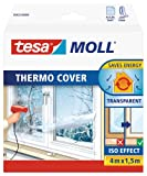 tesa UK Thermocover Insulating Film for Windows 4 m x 1.5 m (max) - Transparent