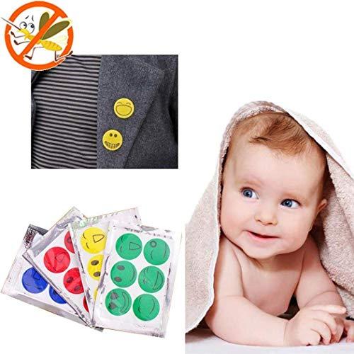 (10 Packs / 60 Count) Set Anti Mückenschutz Sticker Smiley Face Killer Mückenschutz Sticker Mückenschutz Patches, Kann auf Kleidung, Schreibtisch, Bett platziert Werden