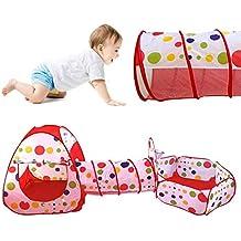 Pop Up Tienda de Juegos Para Niños Plegable, Play House for Kids Túnel Infantil con