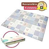 Spielmatte Baby, Baby-Spielmatte Baby Spielteppich, Teppich Kinderzimmer Faltbarer Krabbelmatte Baby XPE-Schaumboden, Teppich Kinder, (150 x 195x 1 cm)