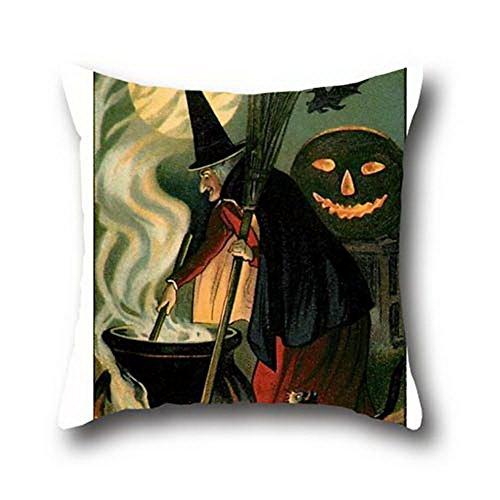 goling Bbay Ölgemälde schwarz Katzen Halloween Stoff Kissenbezug, 100 % Baumwolle, LUIuNeDqKlWVHdBF067, 18*18