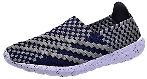 EOZY Sneakers Basse Homme Chaussures De Course Homme Baskets Fitness Sport Running Marine