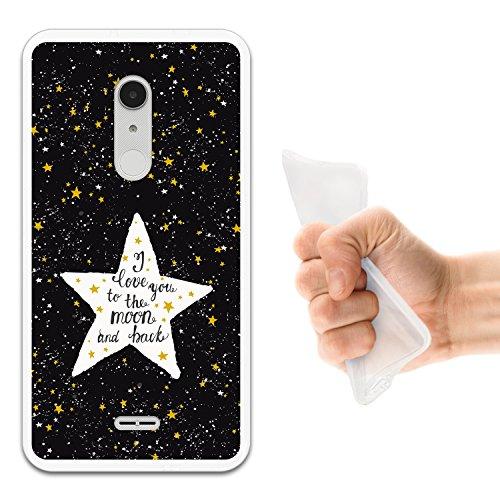 Alcatel A3 XL Hülle, WoowCase Handyhülle Silikon für [ Alcatel A3 XL ] Star Satz - I Love You To The Moon And Back Handytasche Handy Cover Case Schutzhülle Flexible TPU - Transparent