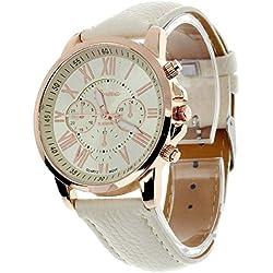 Geneva Platinum Analogue Silver Dial Women's Watch(GP-197)