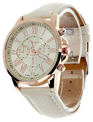 Geneva Platinum analogue silver Dial Women's Watch