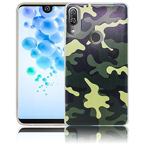 Wiko View 2 Pro Passend Camouflage Handy-Hülle Silikon - staubdicht, stoßfest & leicht - Smartphone-Case