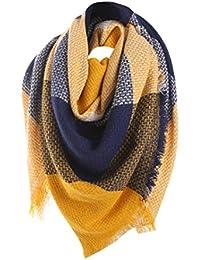 bfebd996492d Tefamore Femmes Echarpe foulards longue de cou de châle de laine de  cachemire de point coloré