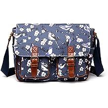 57eb21a6ad96d ... große taschen für die schule mädchen jugendlich anzeigen. Miss Lulu  Schultaschen Wachstuch Crossbody Öl-Stoff-Umhängetasche mit Drucken Unisex  Vögel und ...