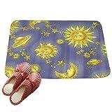 LvRaoo Fußabtreter Ethnisch Sonne Mond Schmutzfangmatte Fußmatte Türmatte für Badezimmer Küche Schlafzimmer (# 4, 60*40cm)