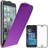 ebestStar - Compatible Coque iPhone 6 Plus 6S Plus Apple Etui Housse PU Cuir Rabat Ultra Fin (Ultra Slim Case), Violet + Film Protection écran Verre Trempé [Appareil: 158.1 x 77.8 x 7.1mm, 5.5'']