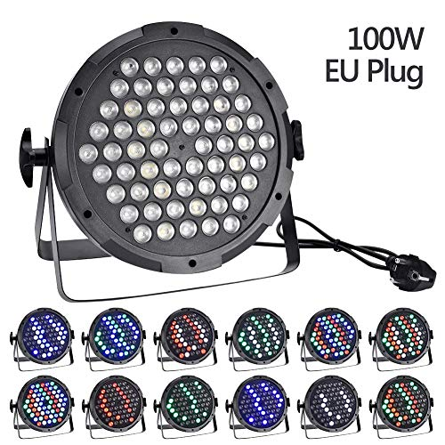 (DiscoLicht,discokugel led lights Mit Remote- Steuerung Bühnenbeleuchtung-100W-Monochrom-LED-Bühnenlicht LED stage light für Halloween Weihnachten Kinder Disco DJ Party Geburtstag Dekoration)