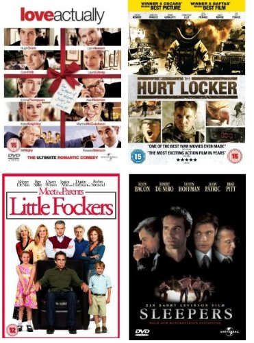 UK Region 2 Cash Saver Movie Bundle x 4 (Saver Movie)