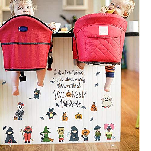 Diy halloween dekoration wandaufkleber für kinderzimmer party fenster kühlschrank haunted house festival decor decals