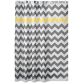grey and aqua shower curtain. InterDesign Chevron Shower Curtain for the Bathroom  Fabric Curtains Made of Polyester