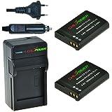 ChiliPower Nikon EN-EL23, ENEL23 Kit: 2x Batterie (1800mAh) + Chargeur pour Nikon Coolpix P600