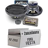 Lautsprecher Boxen Axton ATC26 | 16cm 2-Wege Kompo System Auto Einbauzubehör - Einbauset für Ford Fiesta MK7 Front Heck - JUST SOUND best choice for caraudio