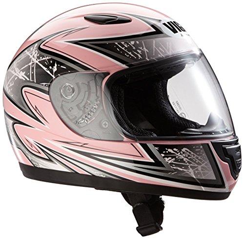 Protectwear SA03-PK-S Kinder Motorradhelm, Integralhelm, Größe S, Rosa/Silber Glanz