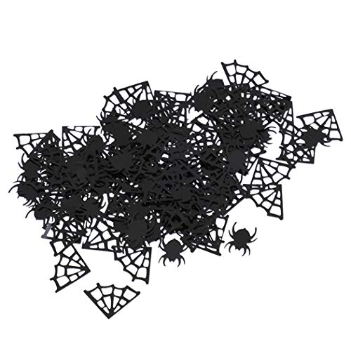JUSTDOLIFE Party Confetti Spider & Spider Web Tisch Confetti Table Scatter für Halloween