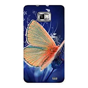 Yellow Thin Butterfly Back Case Cover for Galaxy S2