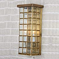 CNMKLM Unione rame quadrato di vetro lampada da parete lampada da parete