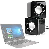 DURAGADGET Altavoces Compactos Para Portátil Acer Predator 17 X / Asus Chromebook Flip C302CA , PRO B9440 , ZenBook Flip UX360UA - Tamaño Mini - Conexión Mini Jack + USB