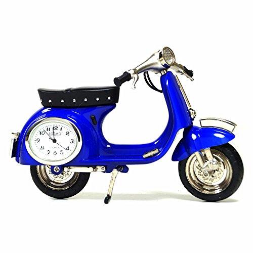 Cosmo 2014104 Miniatur Scooter Roller Tischuhr Uhr Analog weiß