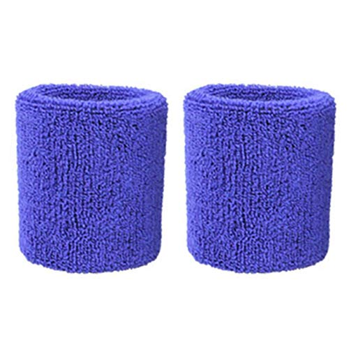 Nidomingo 1 Pair Pure Cotton Wristbands Soft Wrist Guard Support Bands Wrist Bands Sport Sweatbands for Playing Basketball Tennis