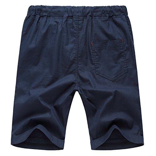 AIYINO Herren Drawstring Casual Beach Shorts Training Kurze Hose Kordelzug Navy