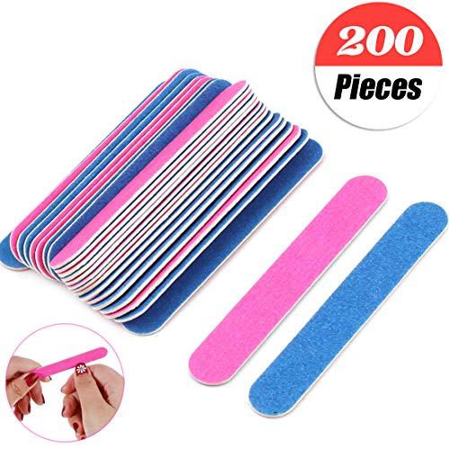 200 Piezas limas de uñas profesionales Desechables Pulidor de Uñas T
