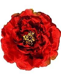 Adroit 2 In 1 Zopfband Haargummi Blume Federn Haarblüte Ansteckblume Brosche Haarspange Clothing, Shoes & Accessories Hair Accessories