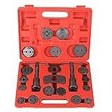 FIXKIT 21tlg. Bremskolbenrücksteller Set Kolbenrücksteller Satz Bremskolben werkzeug, Universal Rückstellsatz mit 2 Gewindespindel