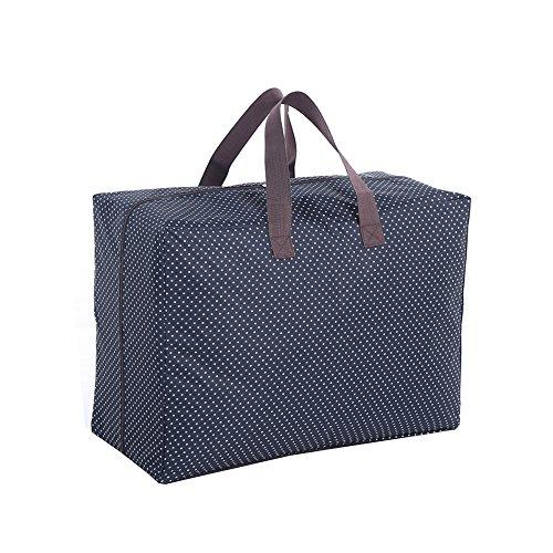 Harson&Jane Impermeabile 600D Oxford Panno Deposito borsa organizzatore per Mossa Casa viaggi Organizza Home lenzuola (Blu navy) Blu navy