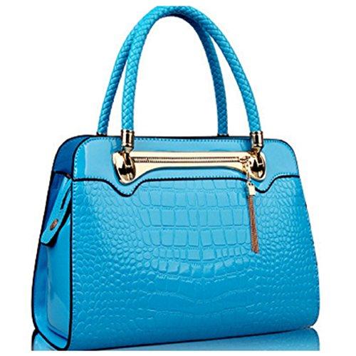 Billionia - effetto pelle di coccodrillo, metallo Donna (blu)