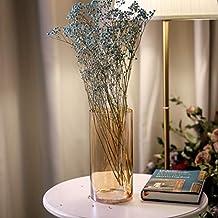 Umi.Essentials Vaso da Fiori  Portafiori in Vetro Soffiato a Bocca Senza Piombo per Addobbo Tavola Cucina Altezza 26cm d'Oro