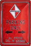 Borgward Parking Only Car Auto 20x 30cm Targa in metallo 876