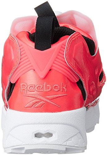 Reebok , Herren Basketballschuhe Neon Cherry/White/Black